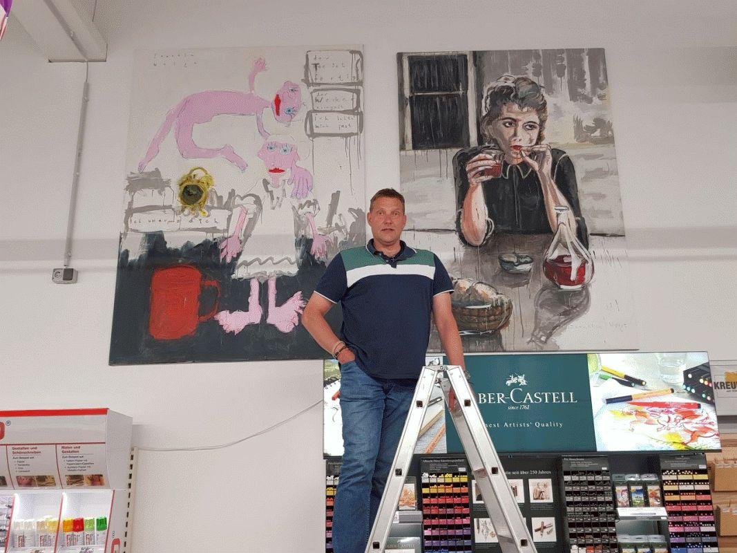 Joachim Weigt stellt aus: Beeindruckende Acrylgemälde auf großzügiger Fläche