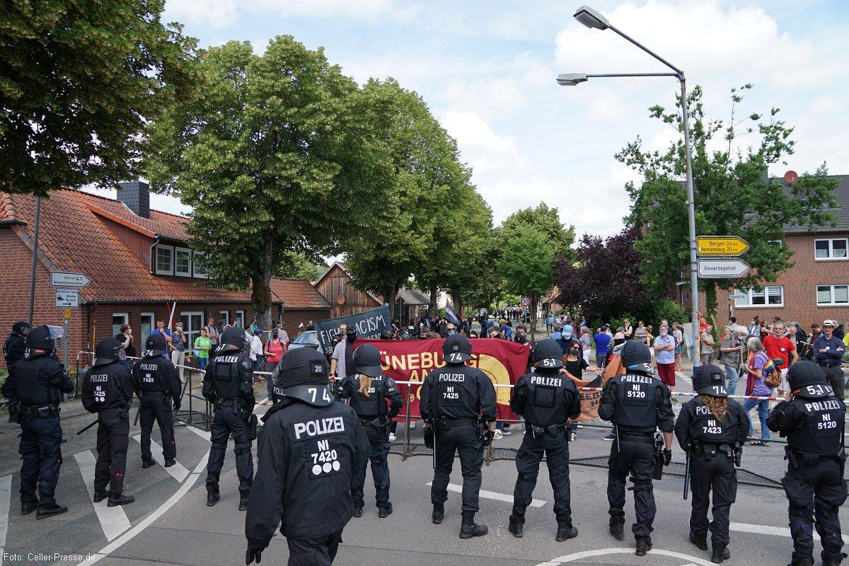 Turbulentes Demo-Wochenende in Eschede