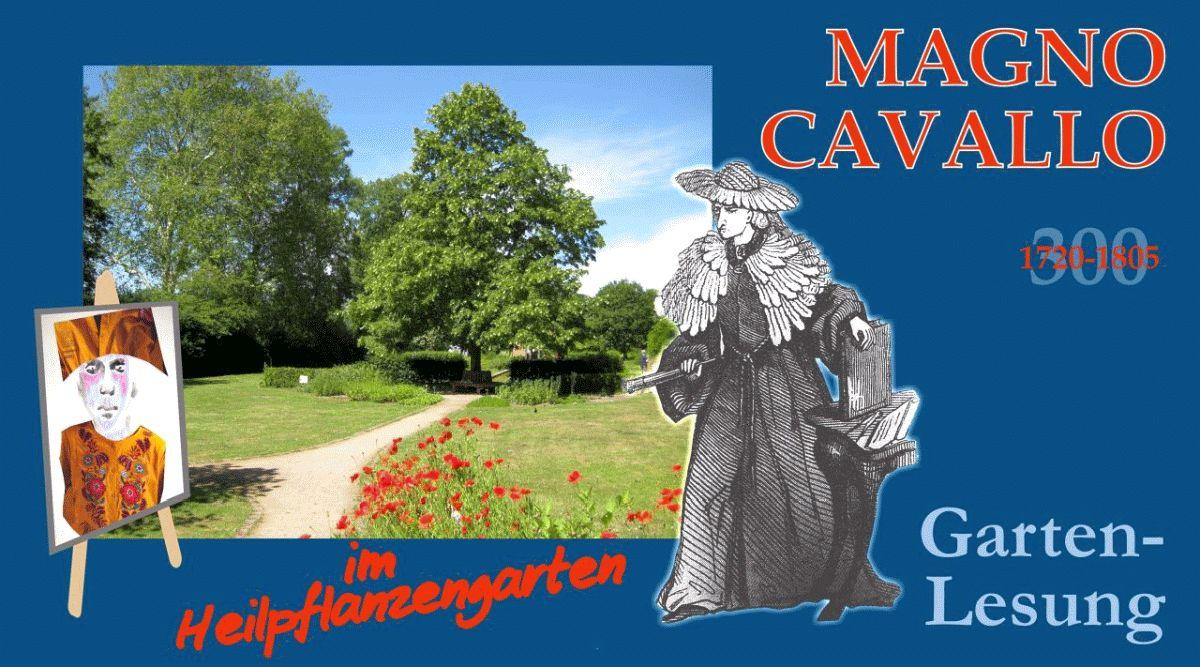 Garten-Lesung: Magno Cavallo im Heilpflanzengarten