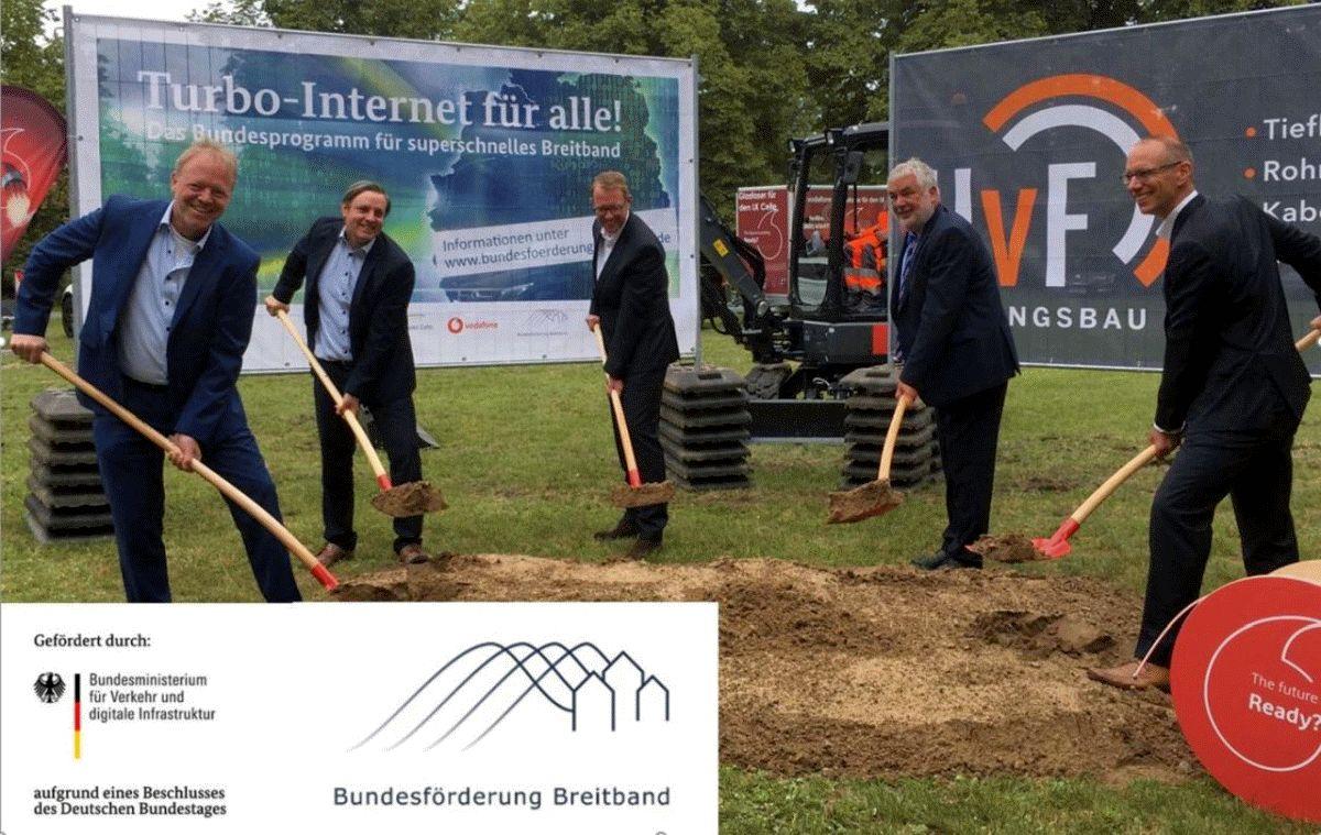 Landrat: Wichtig für die Zukunft des Landkreises – Erster Spatenstich für Breitbandausbau im Landkreis Celle