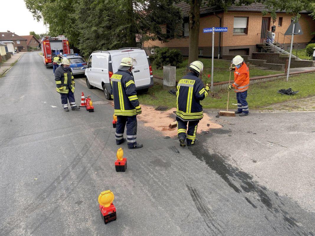 Zwei Leichtverletzte nach Verkehrsunfall in Bröckel *** aktualisert
