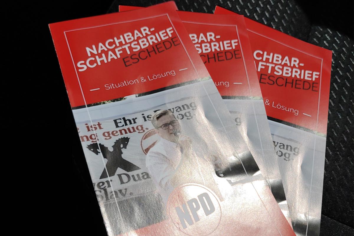 Netzwerk Südheide nimmt Stellung zum NPD-Flyer, der zur Zeit in Eschede kursiert