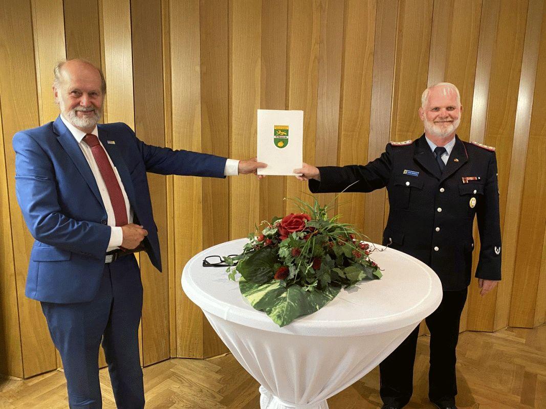 Gemeindebrandmeister Schworm geht in seine zweite Amtszeit