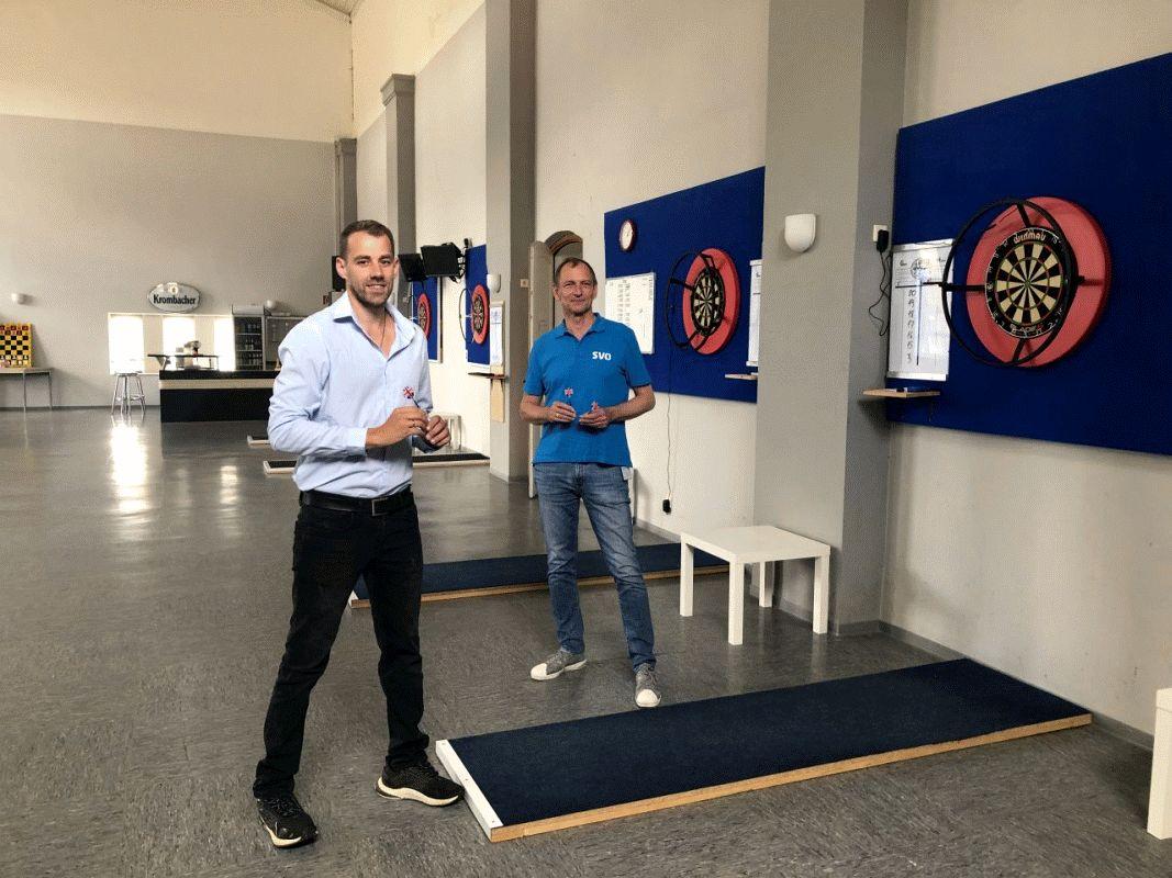 MTV E Darts-Spieler trainieren in neuer SVO-Halle