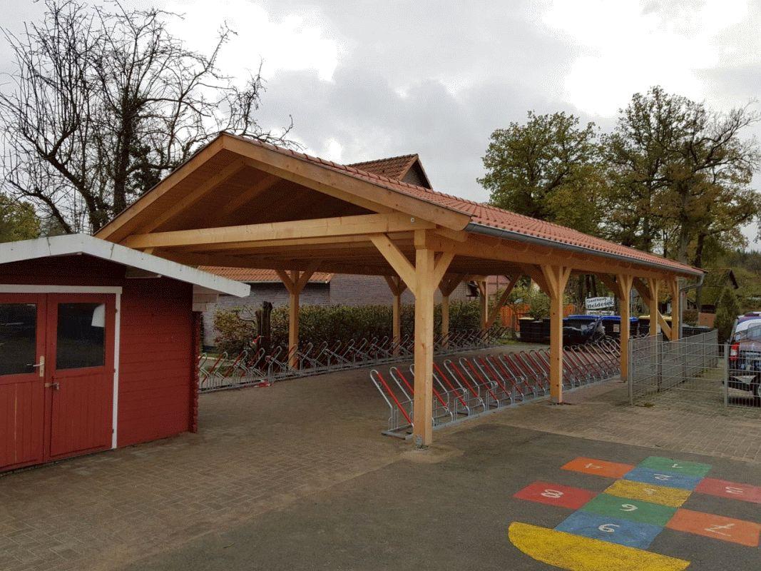 Neue Fahrradabstellanlage an der Grundschule Müden fertiggestellt