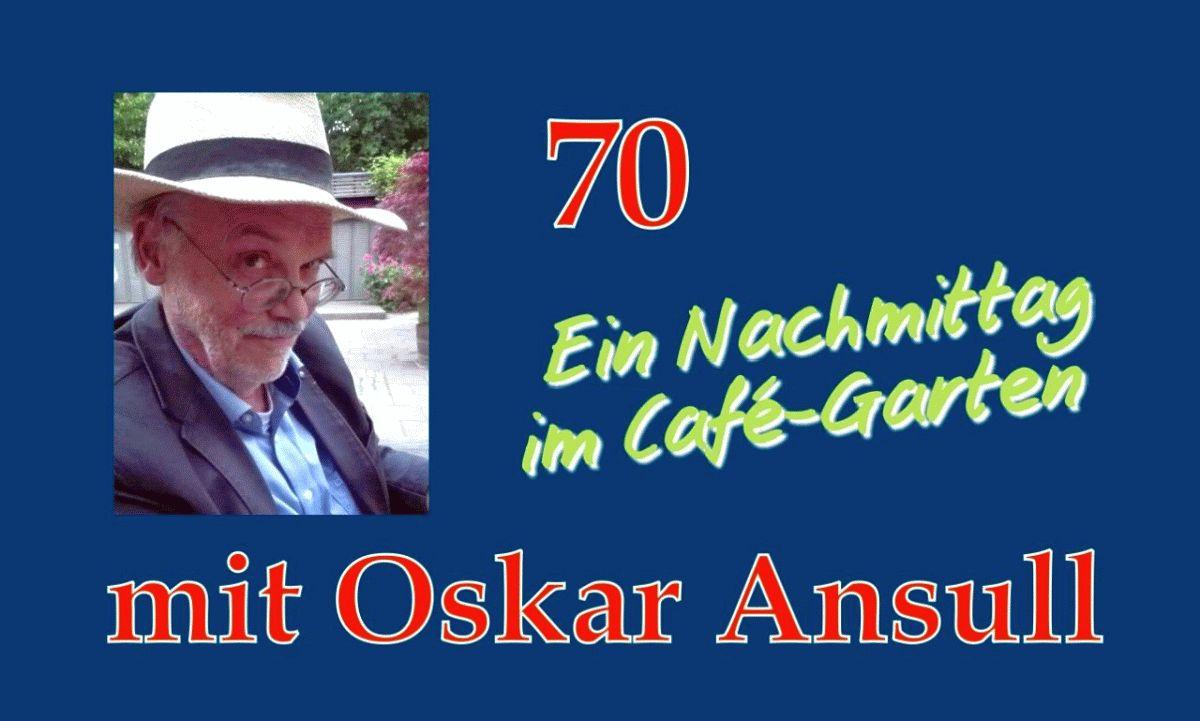 Oskar Ansull liest aus seinem neuen Buch »Papierstreifen«
