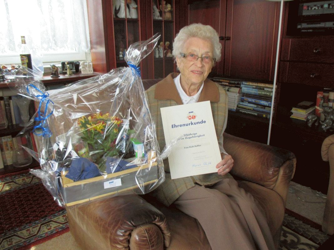 Ruth Raffler 50 Jahre Mitglied im VdK Celle-Altstadt