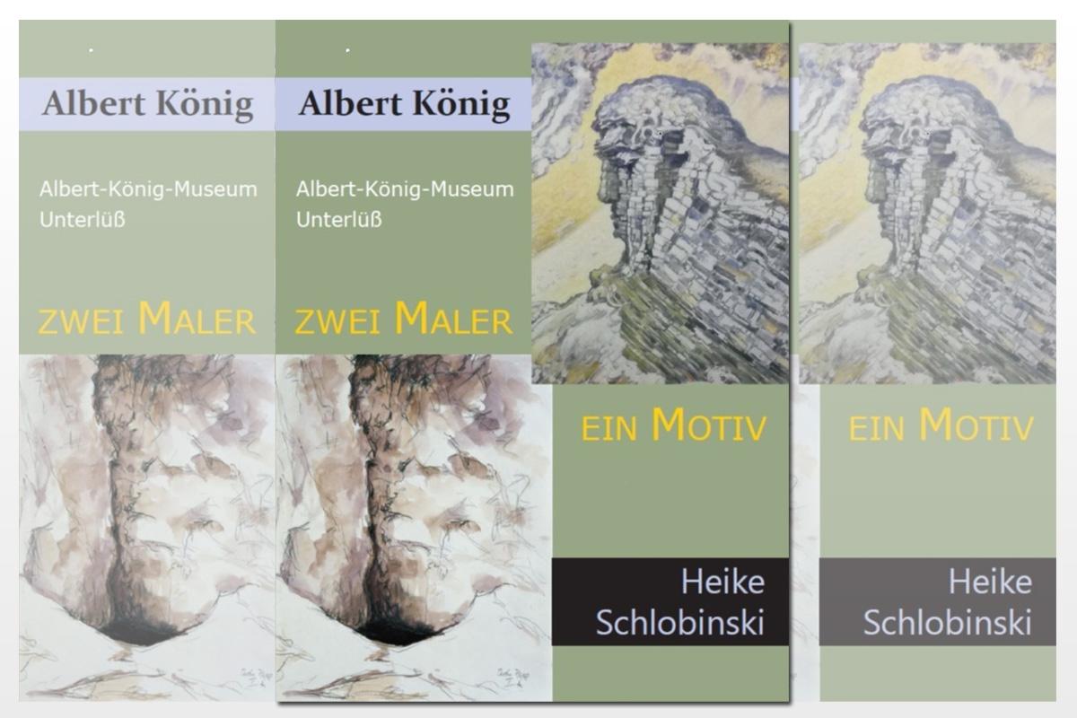 """Wiedereröffnung der Ausstellung: """"Zwei Maler – ein Motiv"""" mit Bildern von Albert König und Heike Schlobinski"""