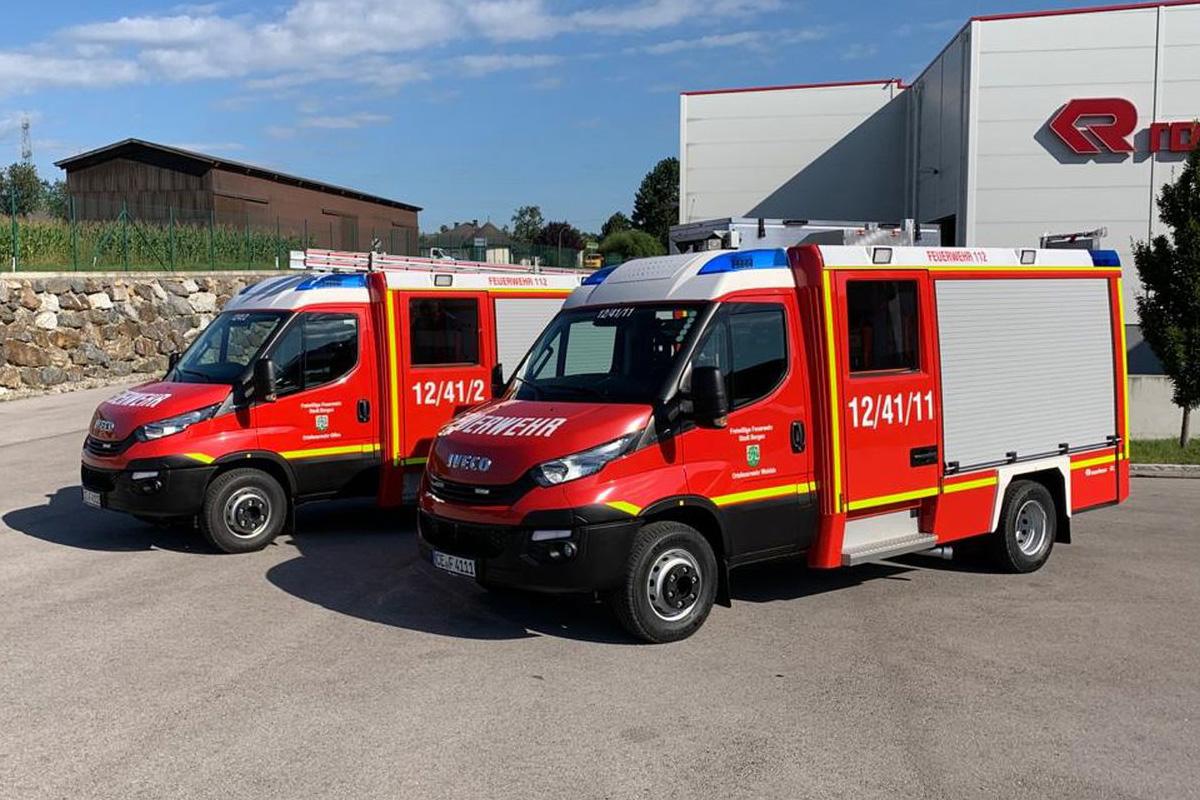 Zwei neue Fahrzeuge für die Stadtfeuerwehr Bergen