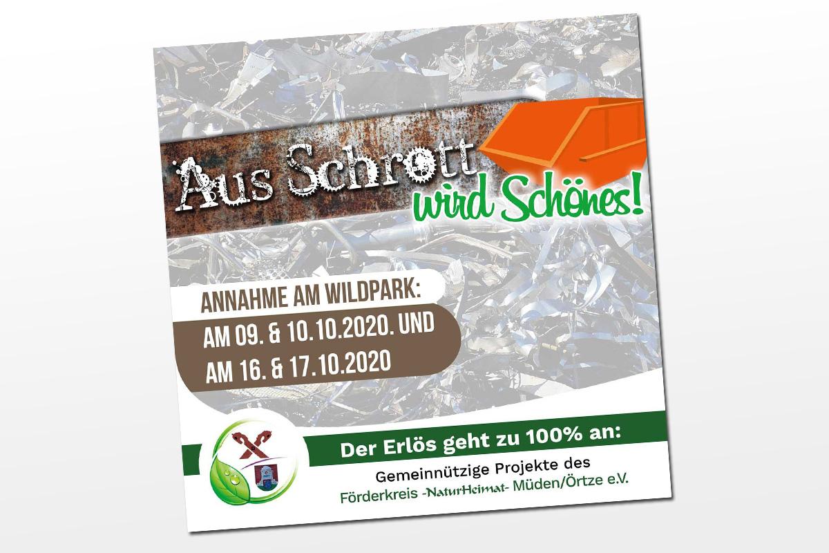 """""""Aus Schrott wird Schönes"""" für den Heimatverein in Müden/Örtze"""