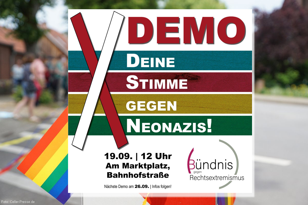 Demonstration des Bündnisses gegen Rechtsextremismus in Eschede am 19.09.2020