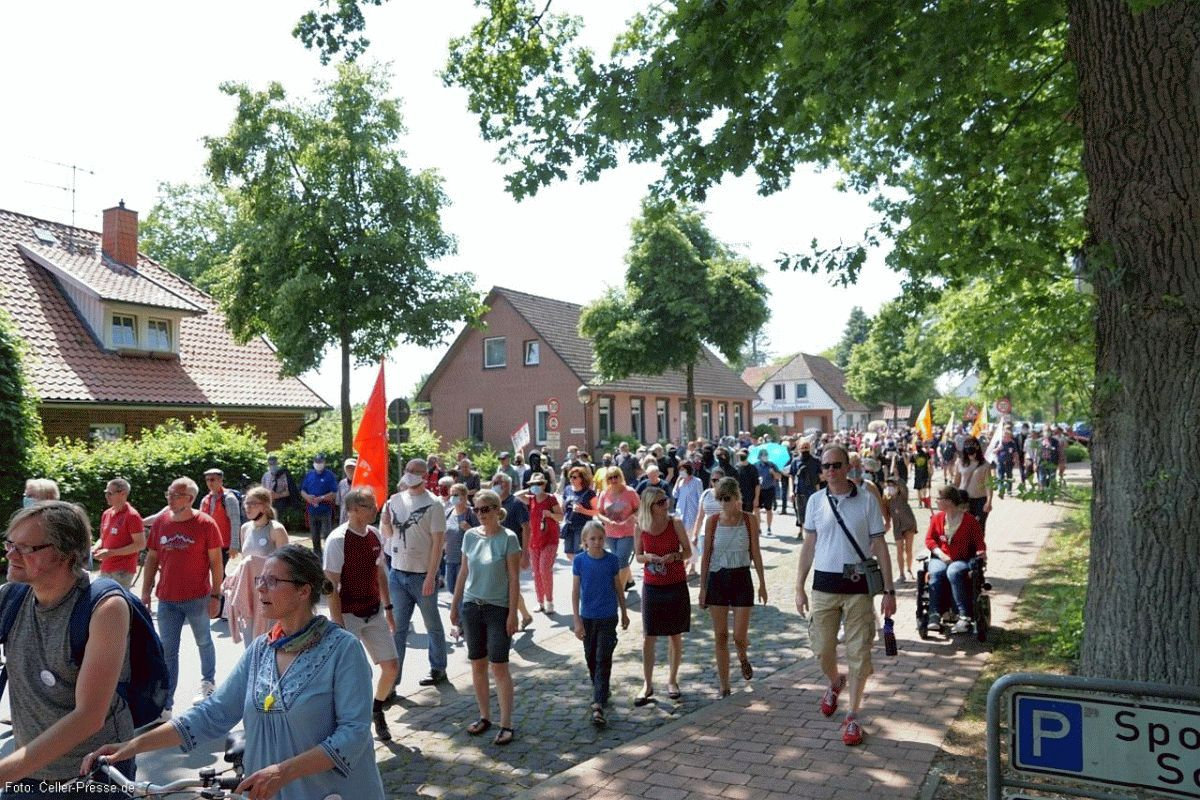 Demonstrationen in Eschede am Samstag