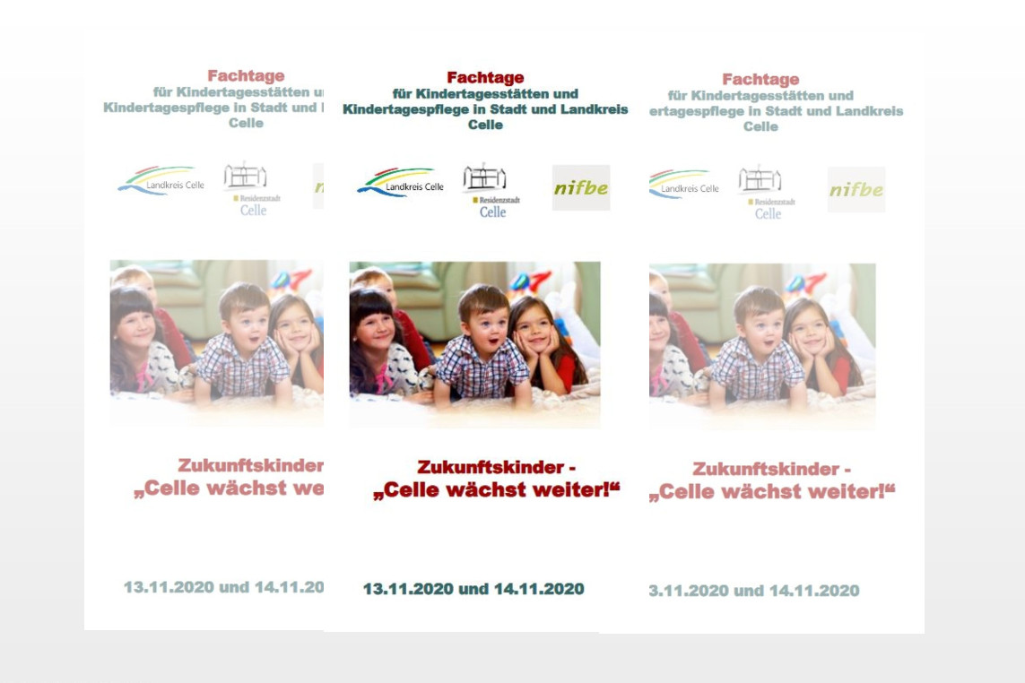"""Fachtage für frühe Bildung – Interessierte können sich für """"Zukunftskinder – Celle wächst weiter"""" bis 10. Oktober anmelden"""