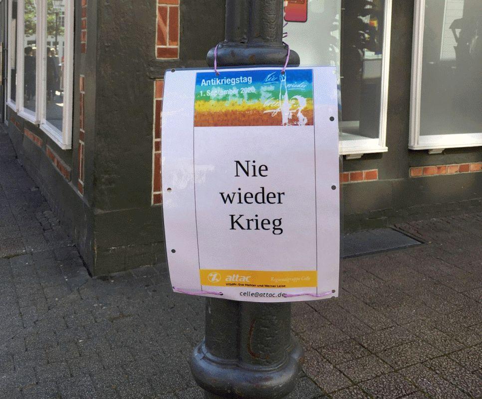 Nie wieder Krieg – Antikriegstag in Deutschland am 1.September –