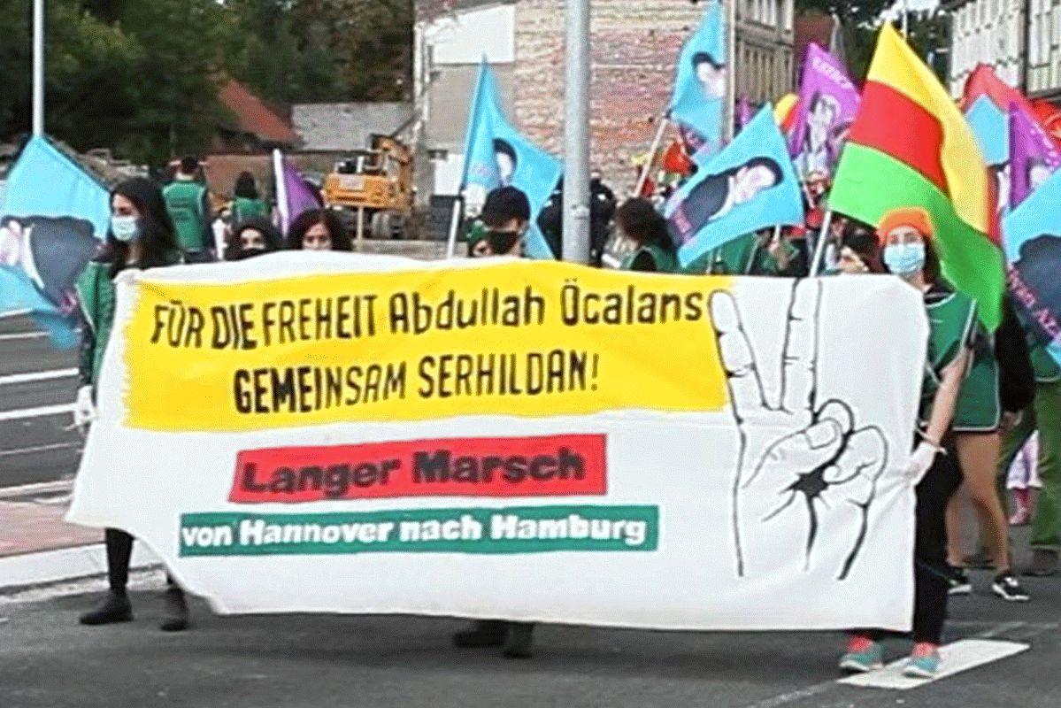 Symbol des Widerstands – Langer Marsch für Freiheit von Abdullah Öcalan und gegen Faschismus und Krieg