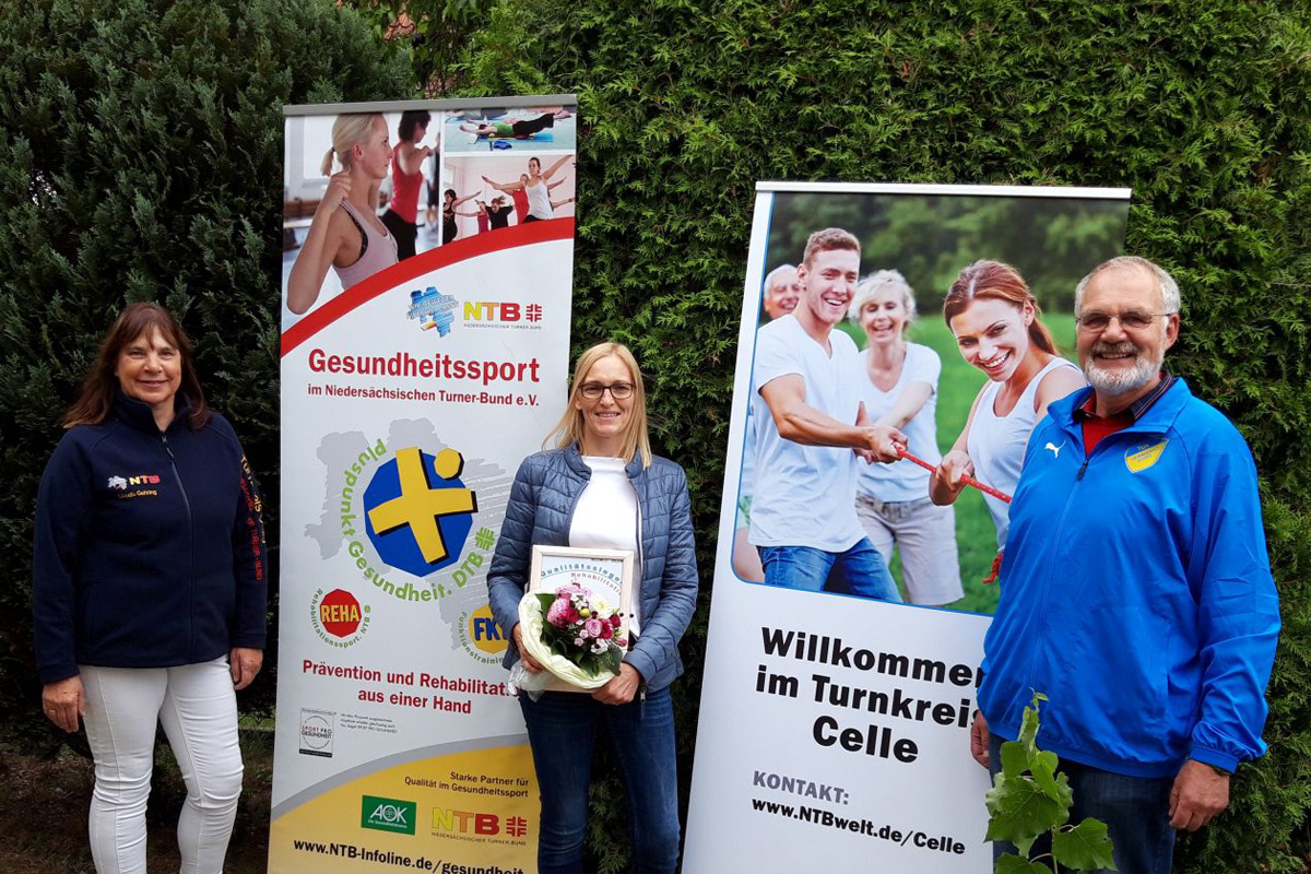 """TuS Hermannsburg erhält den """"Pluspunkt Gesundheitssport"""""""