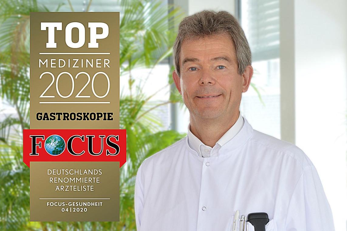 Zum dritten Mal in Folge: AKH Chefarzt Prof. Dr. med. Stephan Hollerbach als Top Mediziner ausgezeichnet