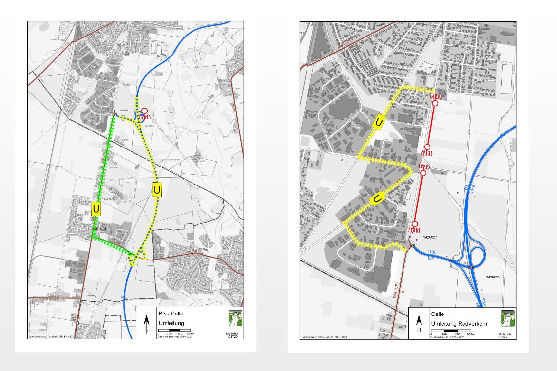 B3 und Hannoversche Heerstraße: Sanierungsarbeiten in Celle