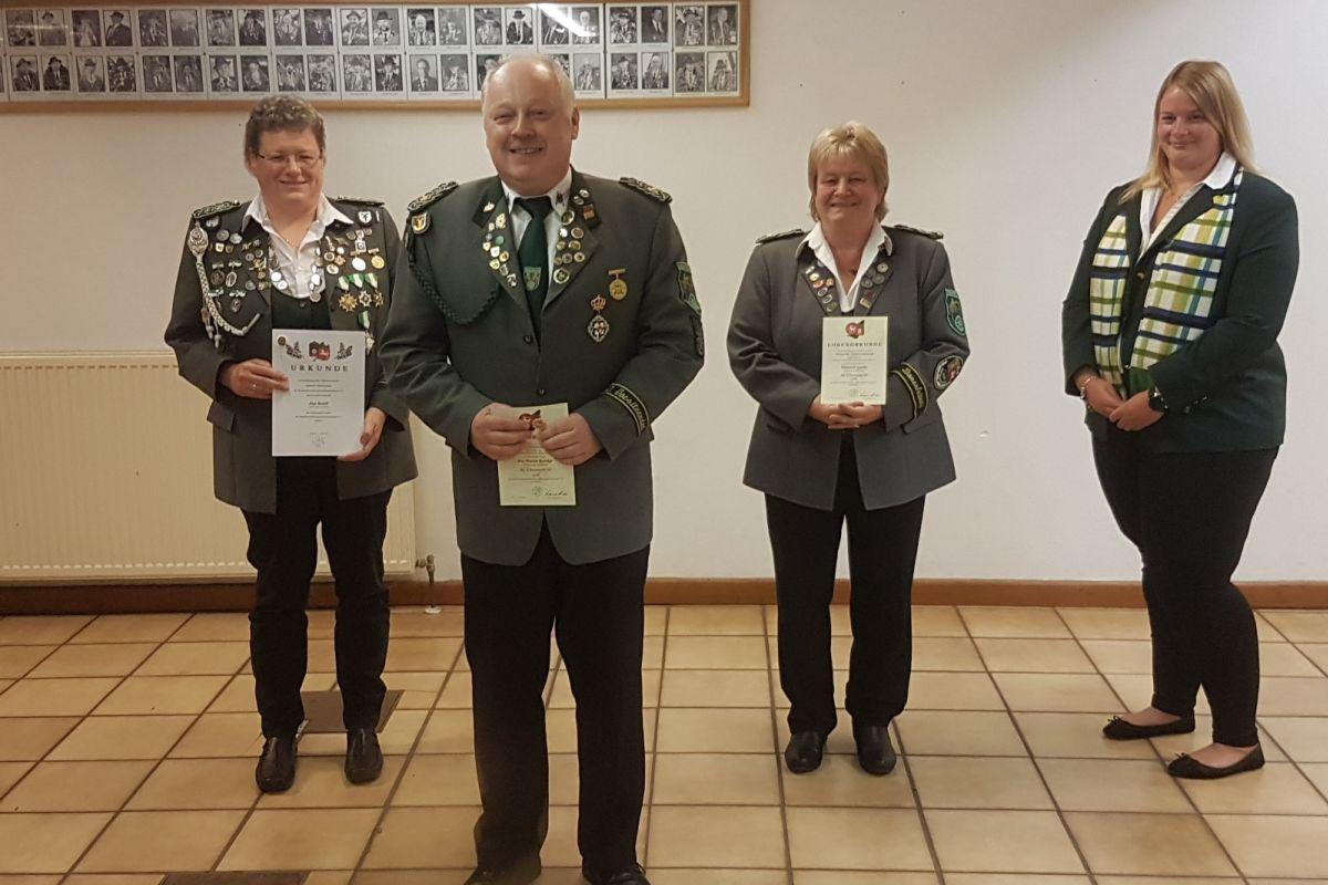 Schützenverein Hambühren e.V.: Besondere Ehrungen bei der Herbstversammlung