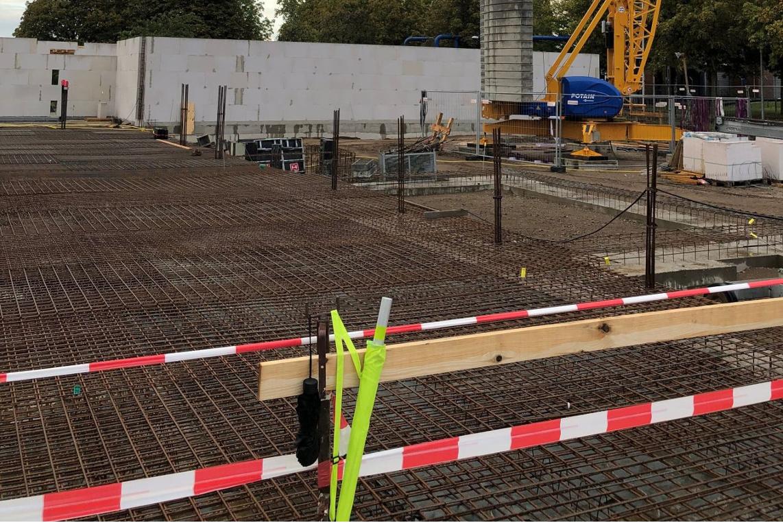 Grundsteinlegung für den Neubau der Stadtwerke und Stadtentwässerung in der Allerstraße