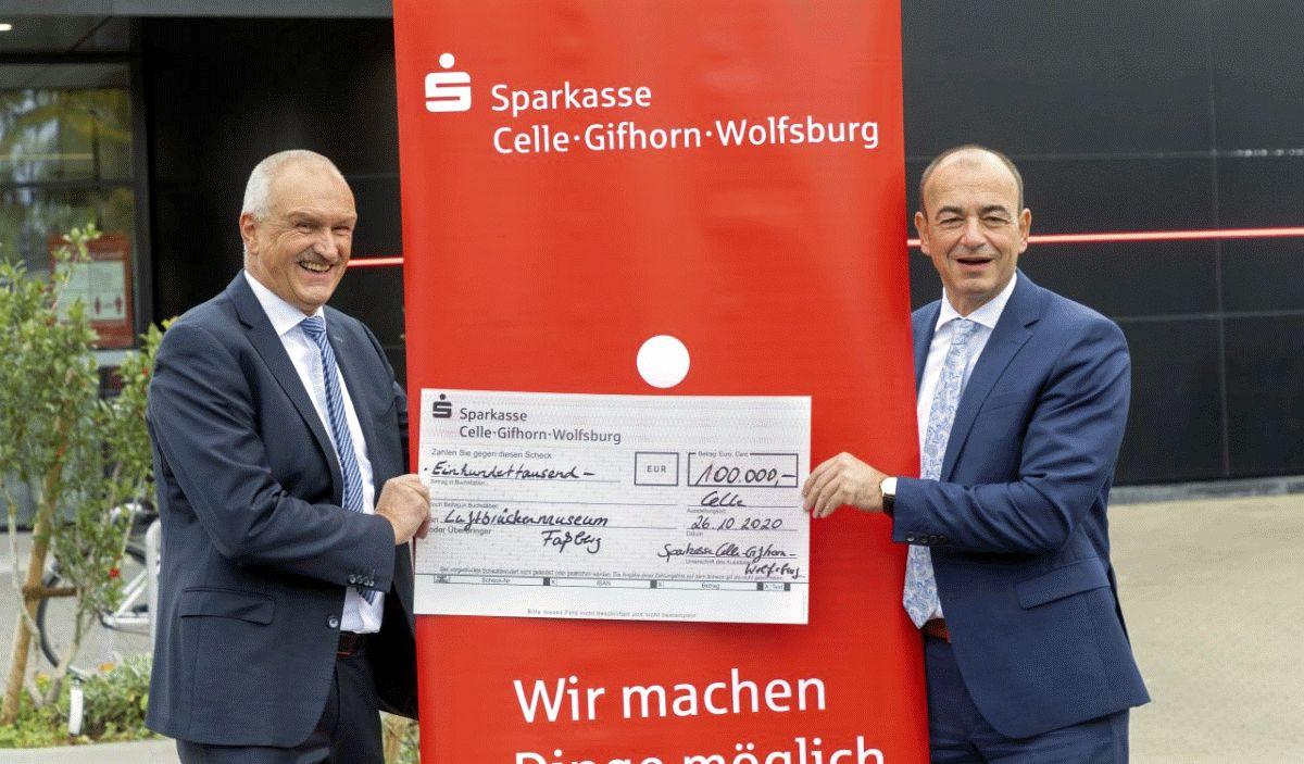 Sparkasse Celle-Gifhorn-Wolfsburg unterstützt Neubau eines Kultur- und Begegnungszentrums im Luftbrückenmuseum Faßberg