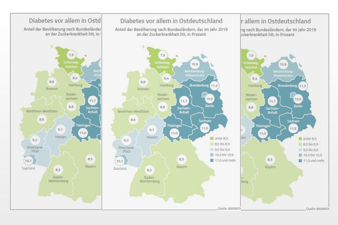 Diabetes-Atlas der BARMER: Diabetes in ganz Deutschland auf dem Vormarsch