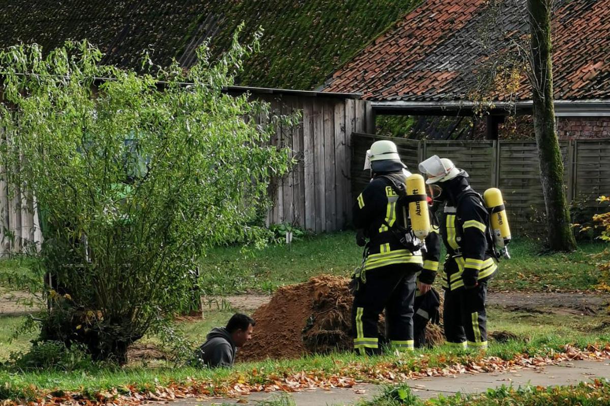 Feuerwehreinsatz wegen beschädigter Gasleitung