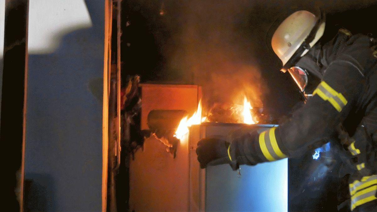 Garagenbrand im Amselstieg