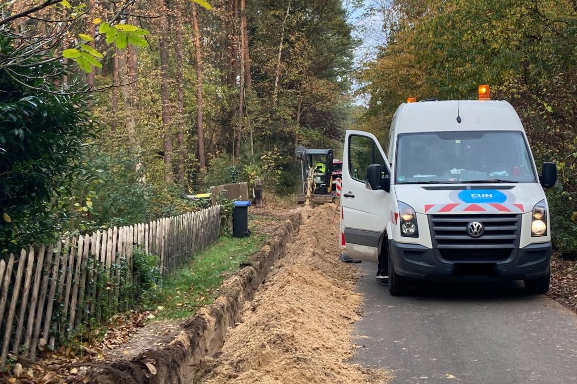 Gasleitung bei Erdarbeiten beschädigt