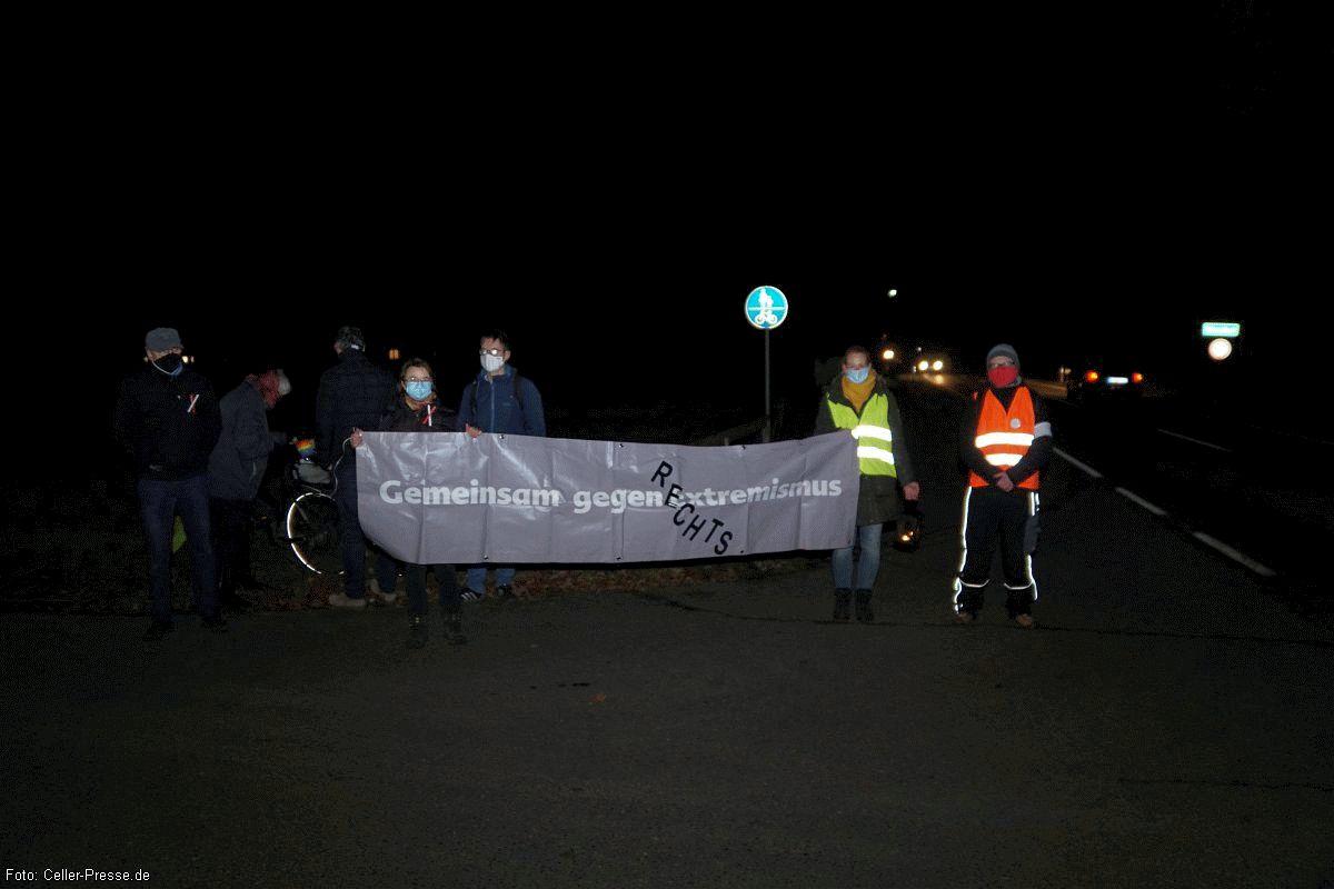 Spontane Solidaritätskundgebung mit Schweigeminute in Eschede