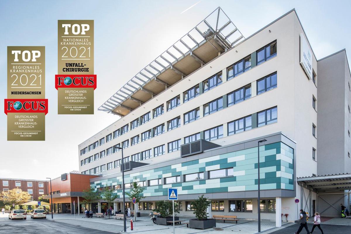 TOP Regionales Krankenhaus: AKH Celle erneut mit Focus Siegel ausgezeichnet