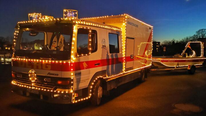 DLRG Weihnachtstruck war unterwegs