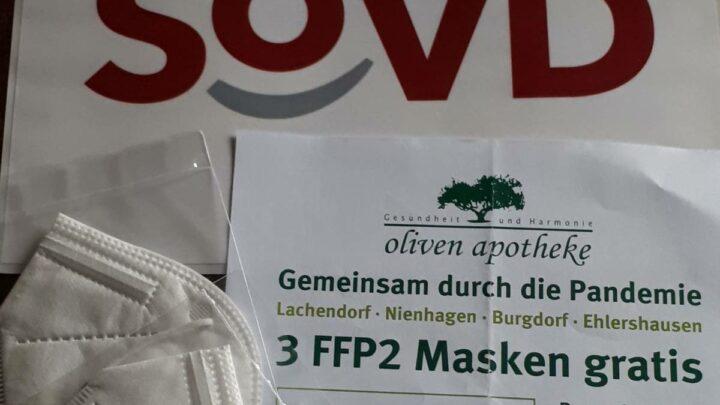 Ausgabe von FFP-2-Masken