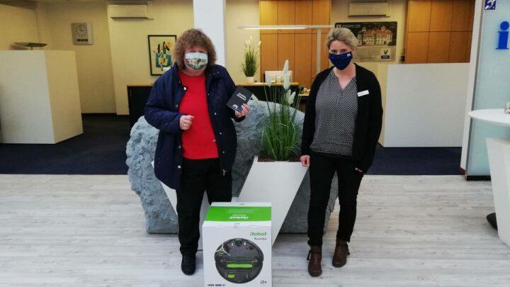 Losglück beim VR-Gewinnsparen: Cellerin gewinnt Saugroboter