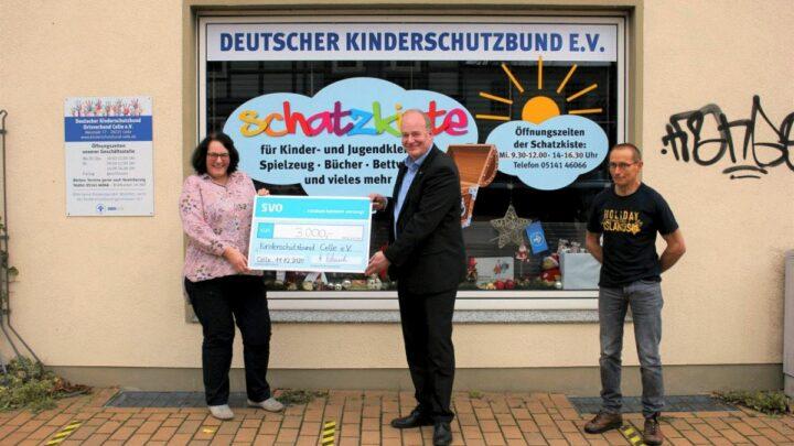 SVO spendet 3.000 Euro an Kinderschutzbund Celle