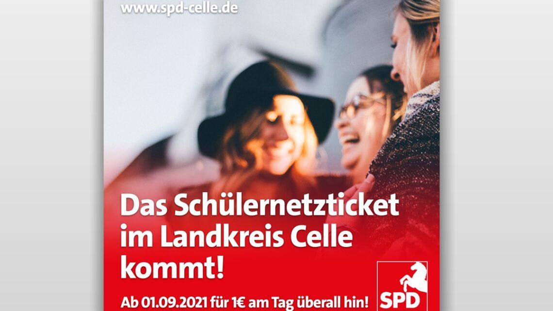 SPD wirkt: Schülernetzticket im Landkreis Celle kommt zum 01.09.2021