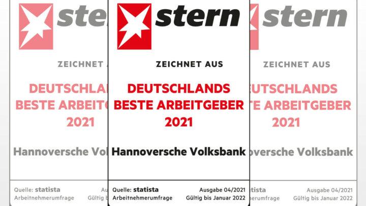 Hannoverschen Volksbank als bester Arbeitgeber ausgezeichnet!