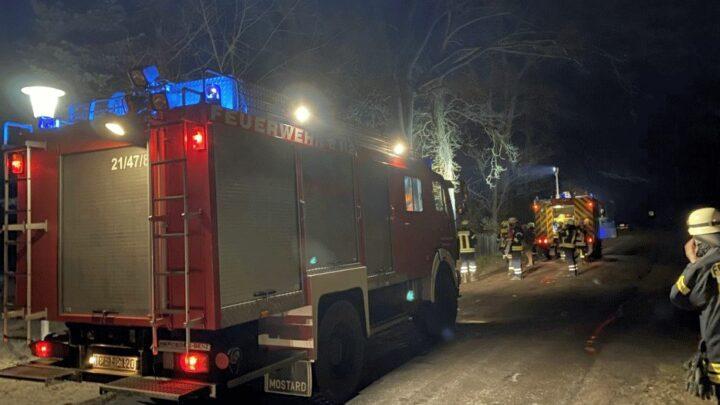 Löschzug Wienhausen rückt zu Schornsteinbrand aus