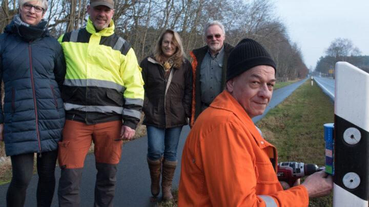 Wildunfälle sollen verhindert werden – Wildunfallprävention an der Thörener- Straße  (L180) durch die Jägerschaft Celle