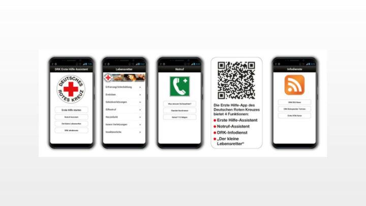 Auch im Lockdown: Erste Hilfe online geht immer… – Interaktive Begleitung in einer Notfallsituation mit der DRK-Erste-Hilfe-App.