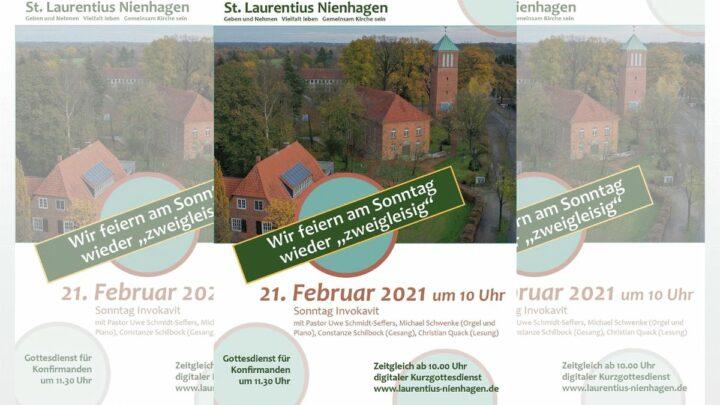 Laurentius Nienhagen bleibt auch am Sonntag digital und präsentisch zugleich