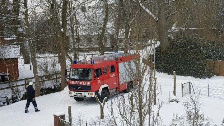Schornsteinbrand in Sülze