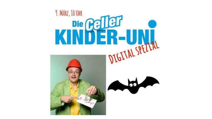"""Kinder-Uni digital Spezial – Live-Stream mit Dipl.-Ing. Joachim Hecker – Wie funktionieren Fledermäuse? Kann man """"mit den Ohren sehen""""?"""